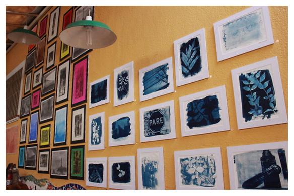 cianotipia dani sandrini - Exposição dos trabalhos dos participantes da Oficina de fotografia no Proesq - ABRE