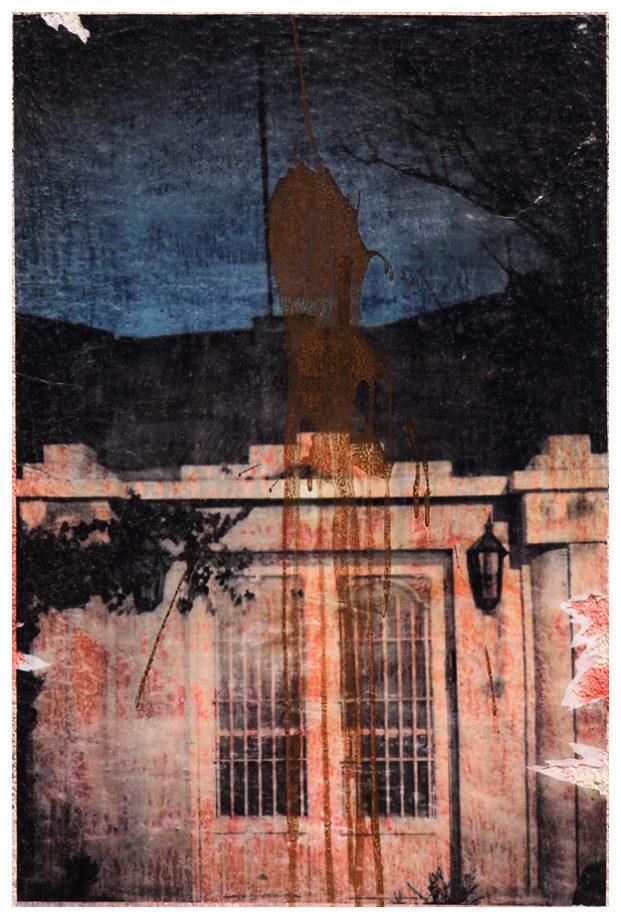 Fotografia lambe-lambe em muro da Jordania. Projeto Fragments of a return.
